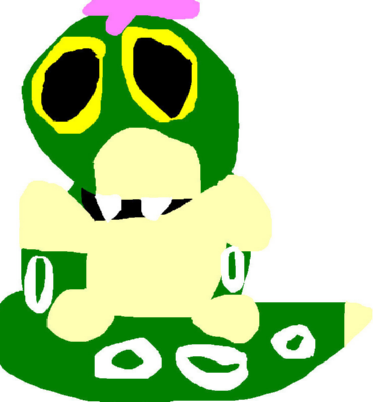 Caterpie With Fangs Ms Paint^^ by Falconlobo
