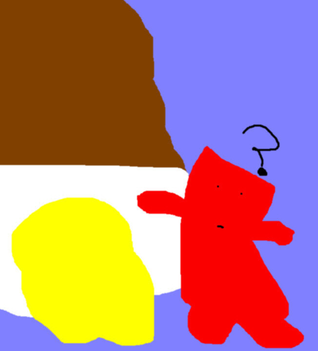 Runny Chocolate Cream Egg  Even Mr. Bacon Is Confused Ms Paint by Falconlobo
