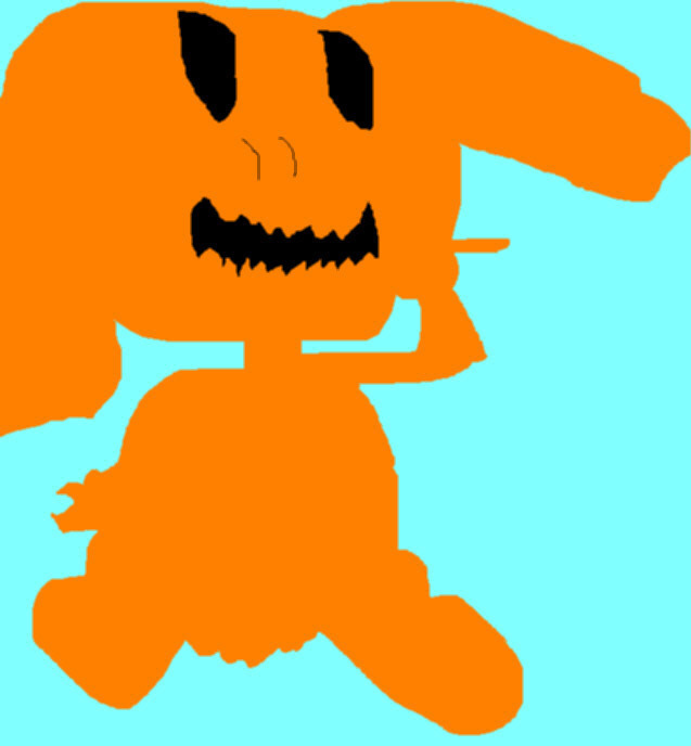 The Pumpkin Bunny Random Ms Paint Pic by Falconlobo