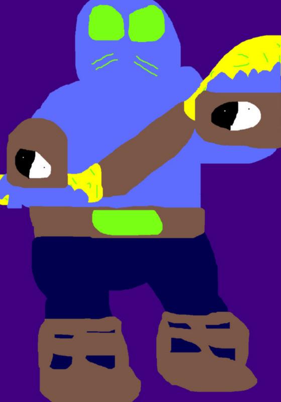 Chubby Chibi Zen Intergalactic Ninja MS Paint by Falconlobo