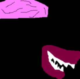 Finkelstein's Evil Looking Brain And Smile In The Dark Ms Paint by Falconlobo