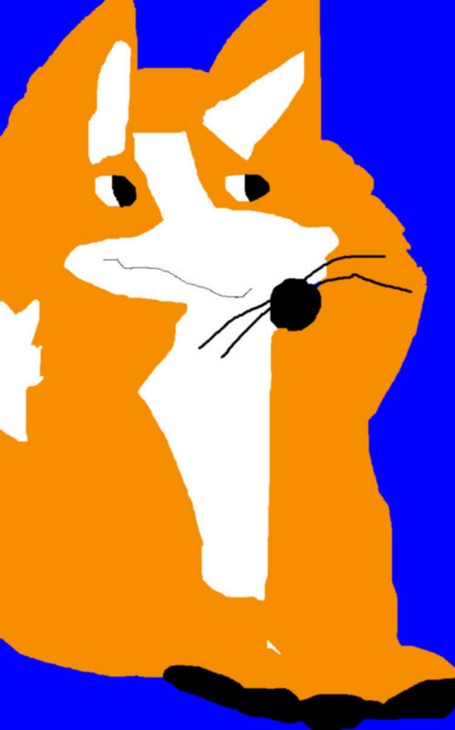 Random Fox Ms Paint by Falconlobo