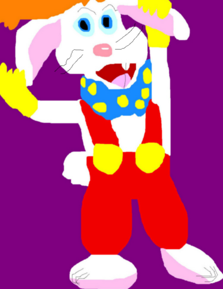 Roger Rabbit Ms Paint Yet Again With Whiskers by Falconlobo
