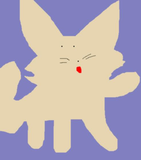 Durp Fennec Fox Ms Paint i was bored by Falconlobo