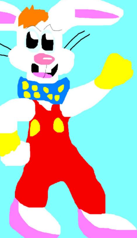 Chibi Roger Rabbit Ms Paint Again^ by Falconlobo