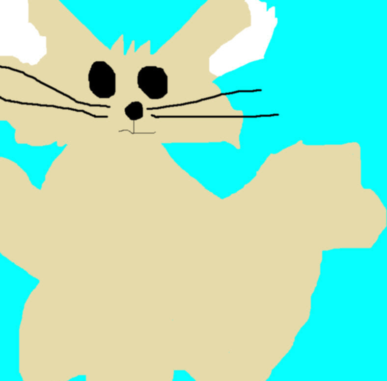 Random Fennec Fox Ms Paint Full View by Falconlobo
