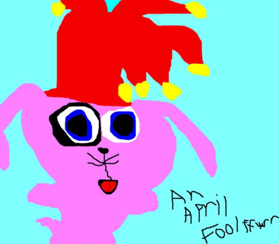 A Random April Fool FFuurr In A Fools Hat Ms Paint by Falconlobo