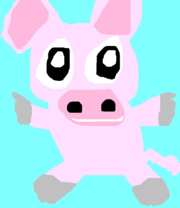 Chibi Piggie Ms Paint by Falconlobo