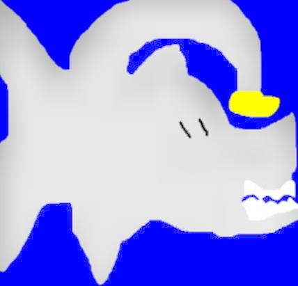 Random AnglerShark Mix Chibi Ms Paint I Was Bored by Falconlobo