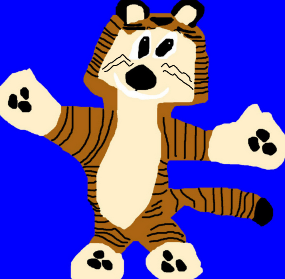 Hobbes Ms Paint New For 2013^ ^ by Falconlobo