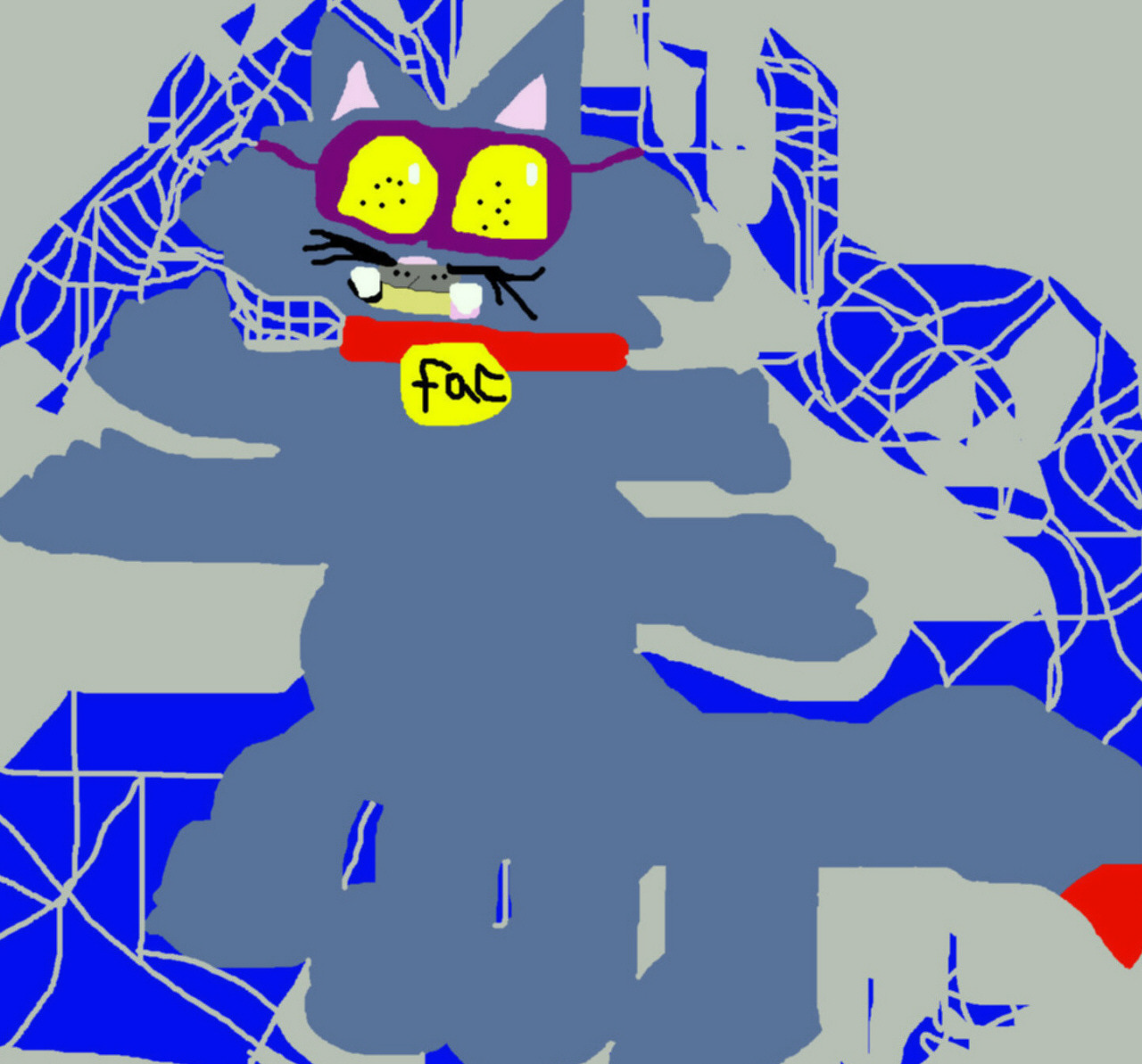 The Fac Spidercat Pharal Posting For Fun MS Paint by Falconlobo