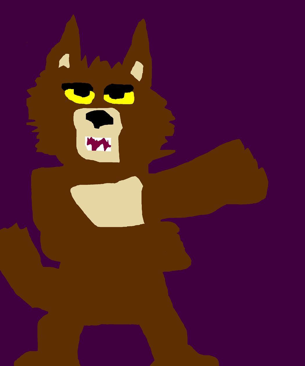 Toon Werewolf Ms Paint by Falconlobo