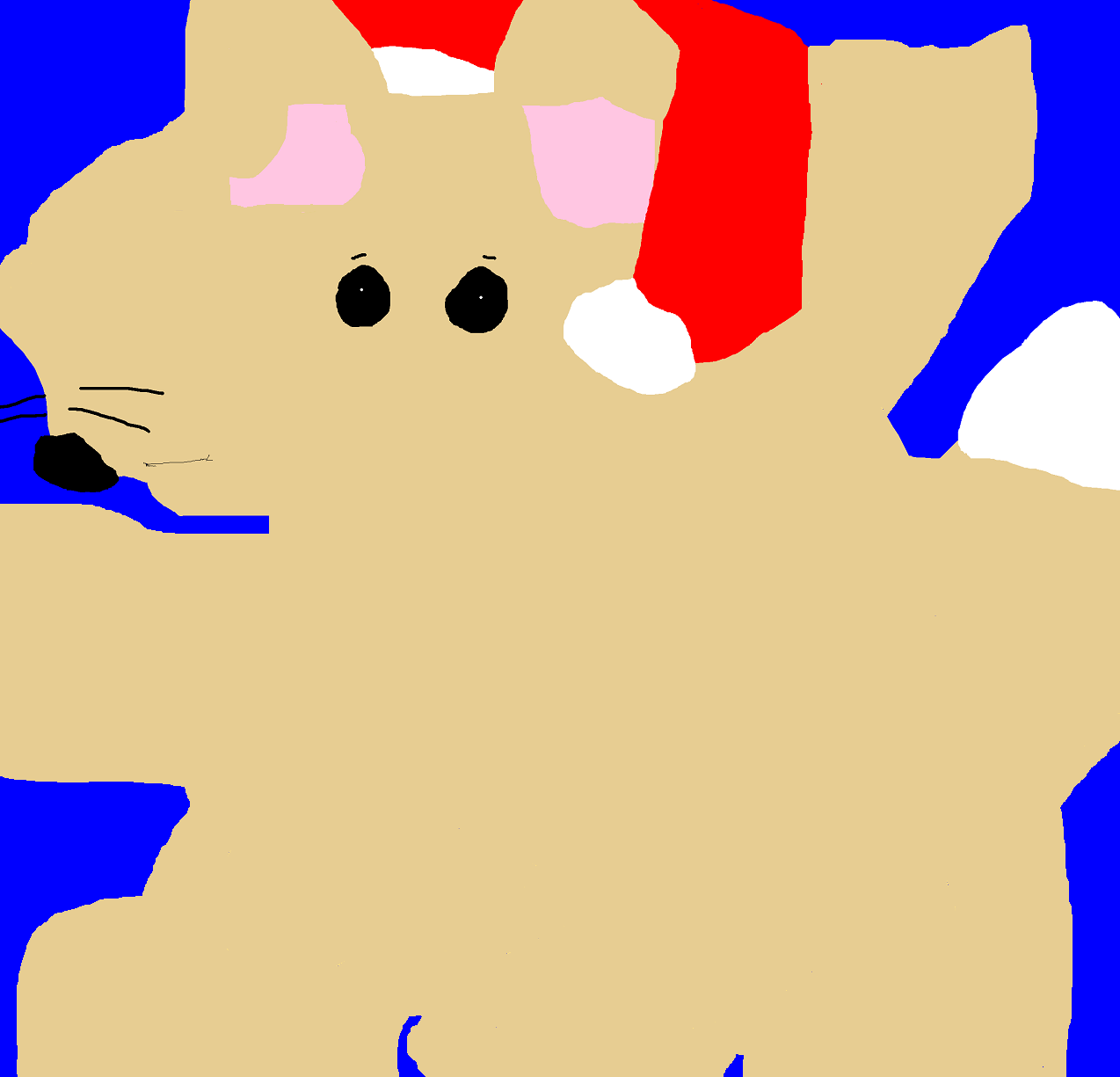 Christmas Fennec Fox MS Paint by Falconlobo
