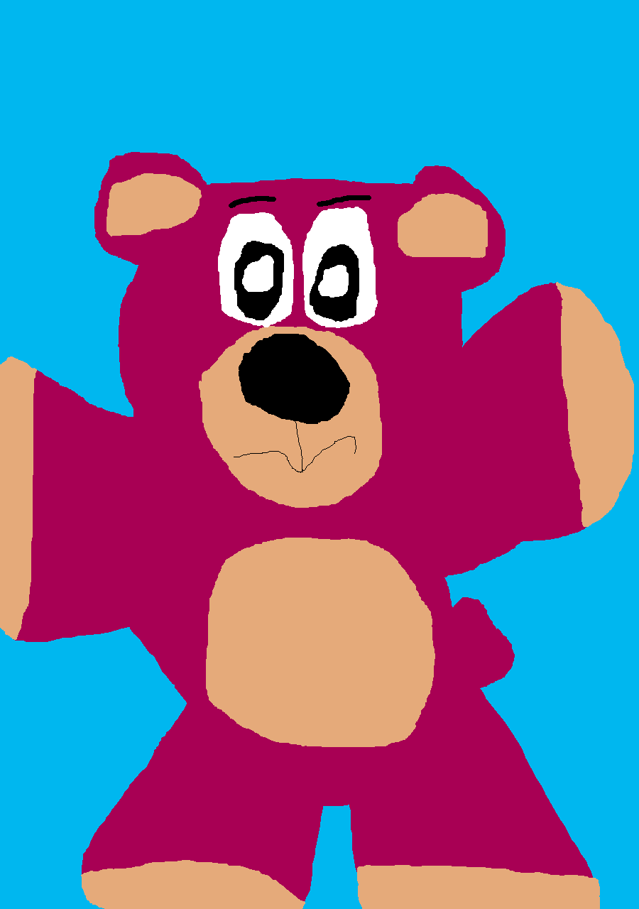 Lotso Ms Paint by Falconlobo
