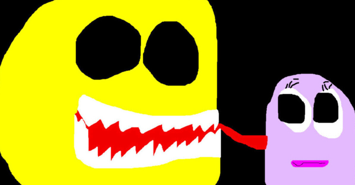 Pacman Ghostlick MS Paint^^ by Falconlobo