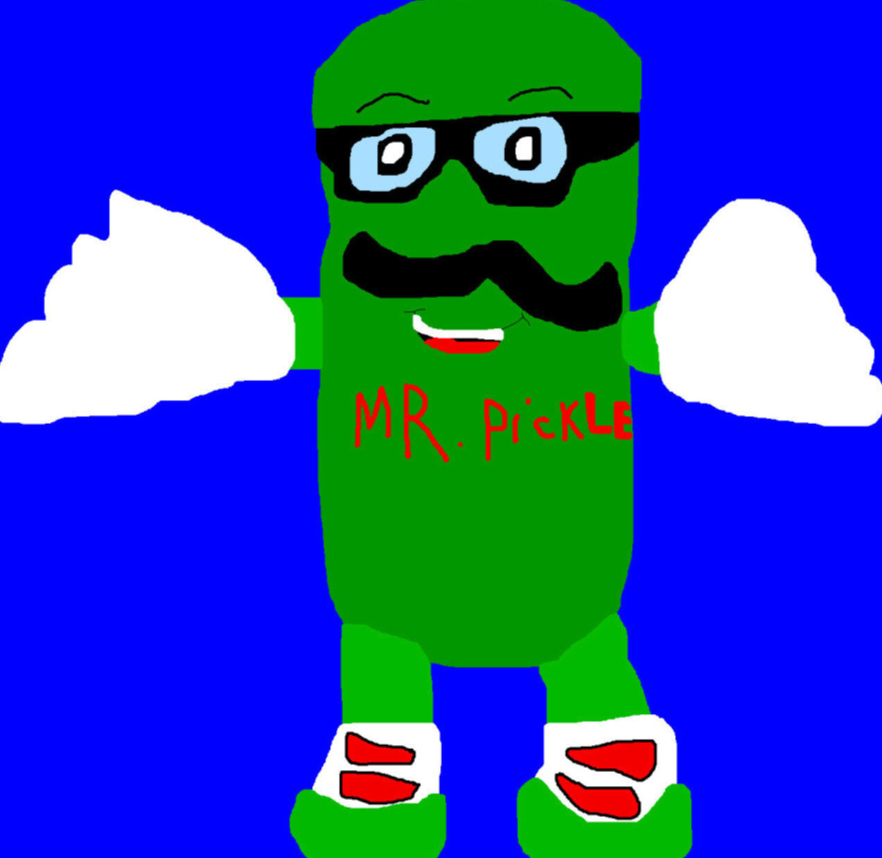 Mr. Pickle Plush Toon MS Paint by Falconlobo