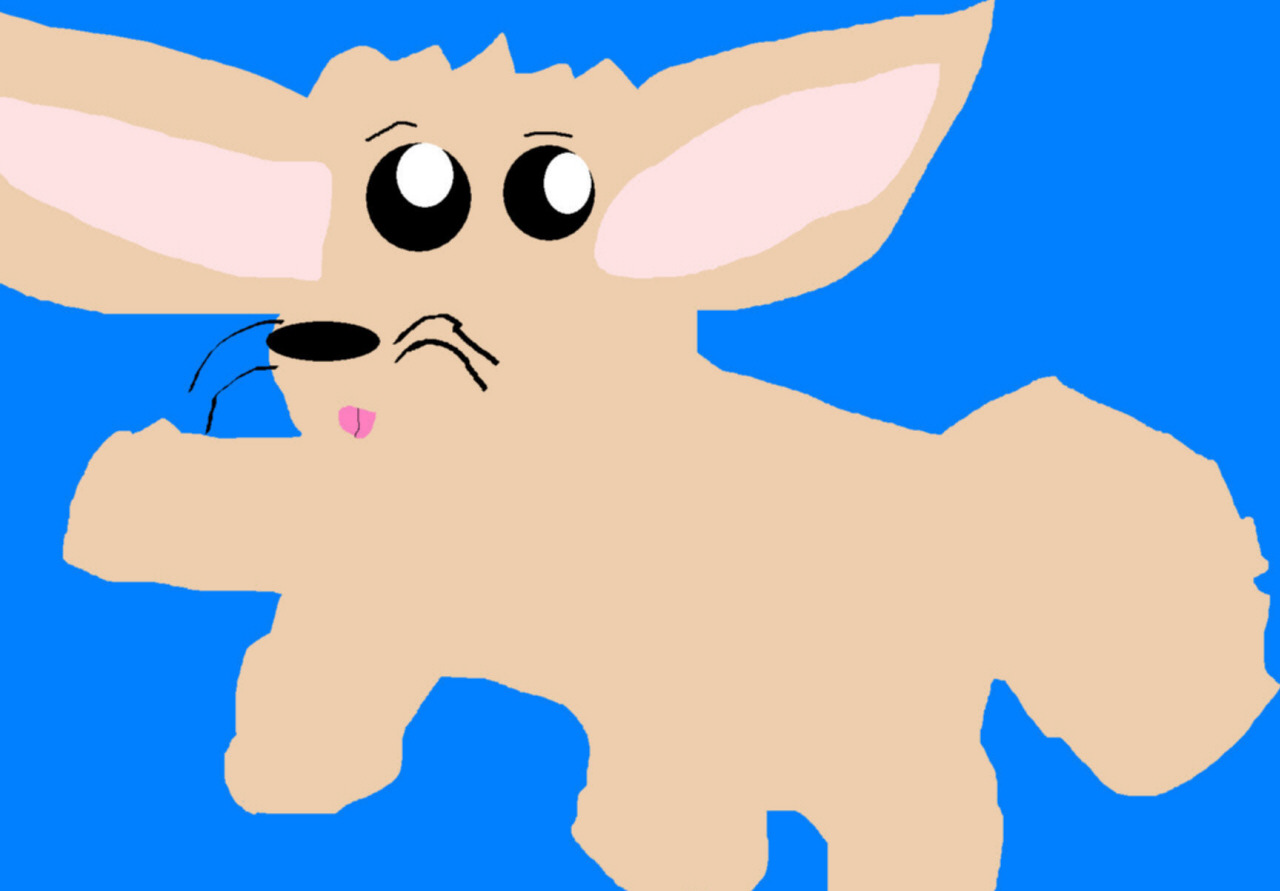 Random MS Paint Fennec Fox^^ by Falconlobo