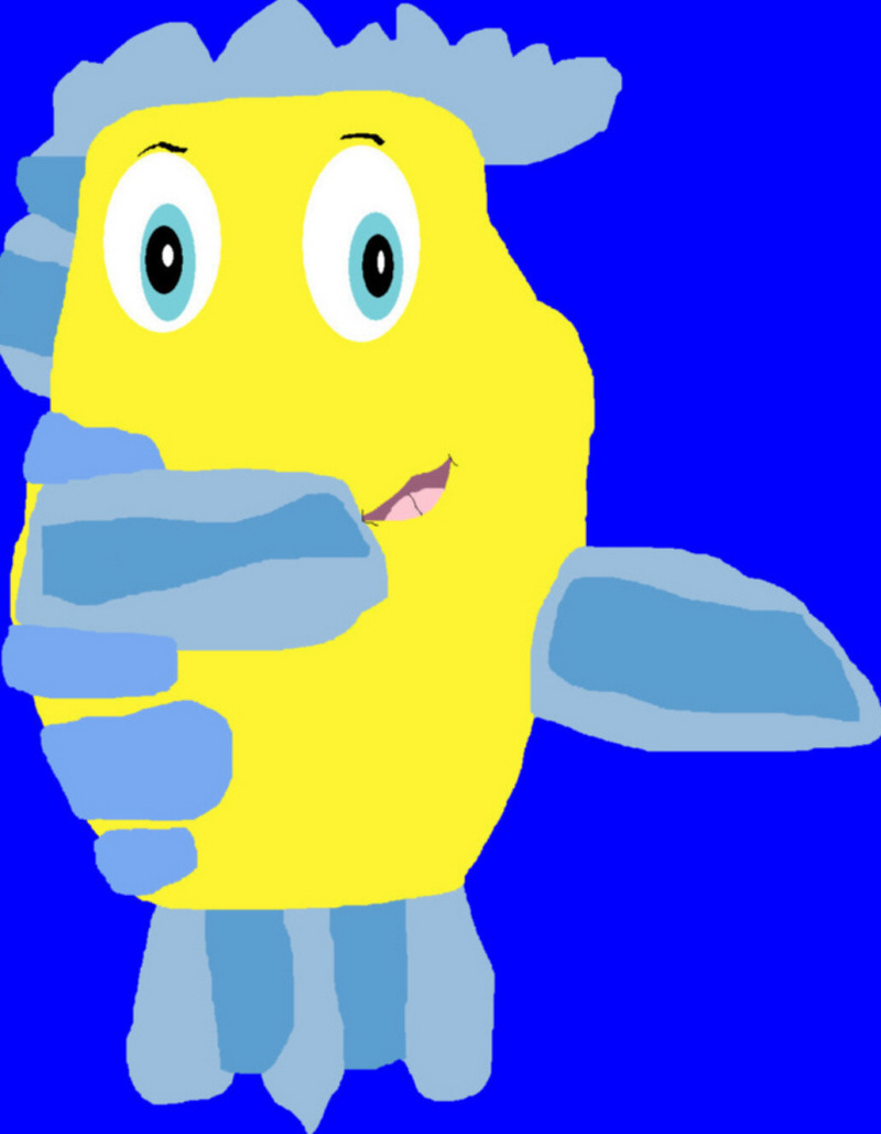 Flounder Derp Plushie Request MS Paint by Falconlobo