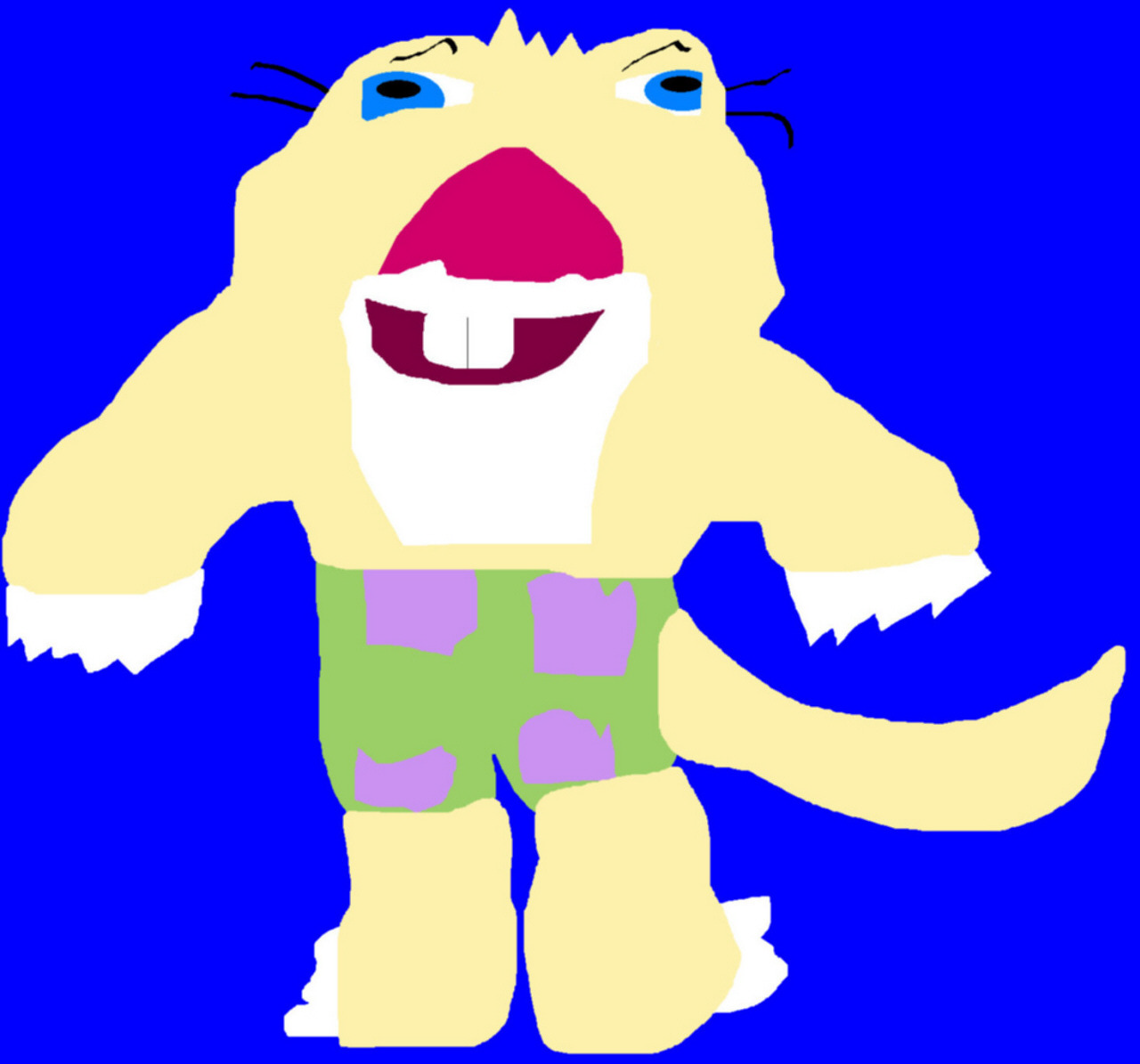 Sid In Patrick Star Shorts MS Paint Request by Falconlobo