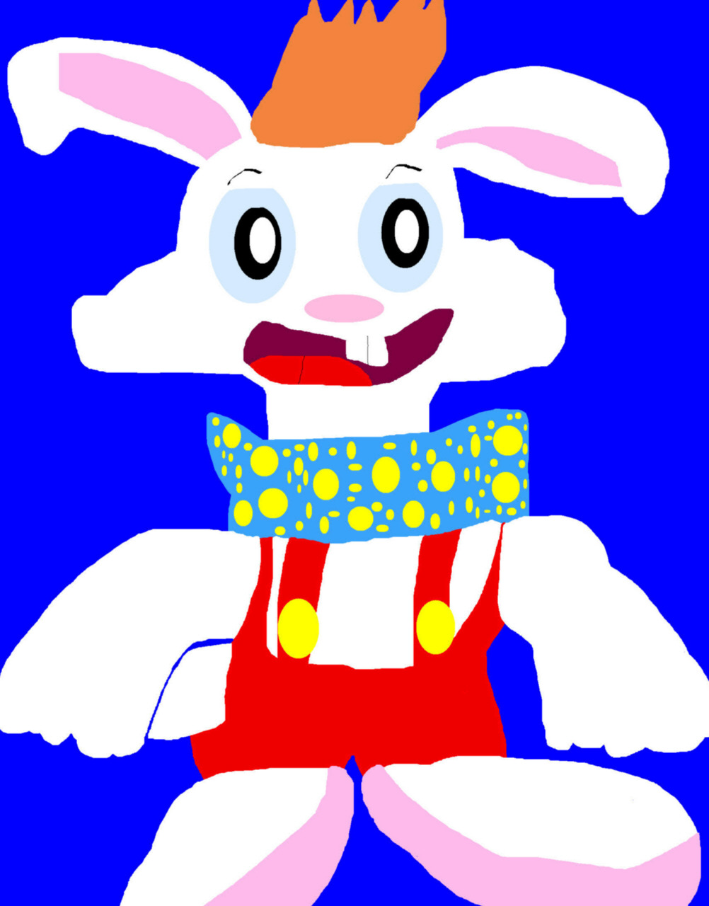Random Chubby Chibi Roger Rabbit MS Paint by Falconlobo