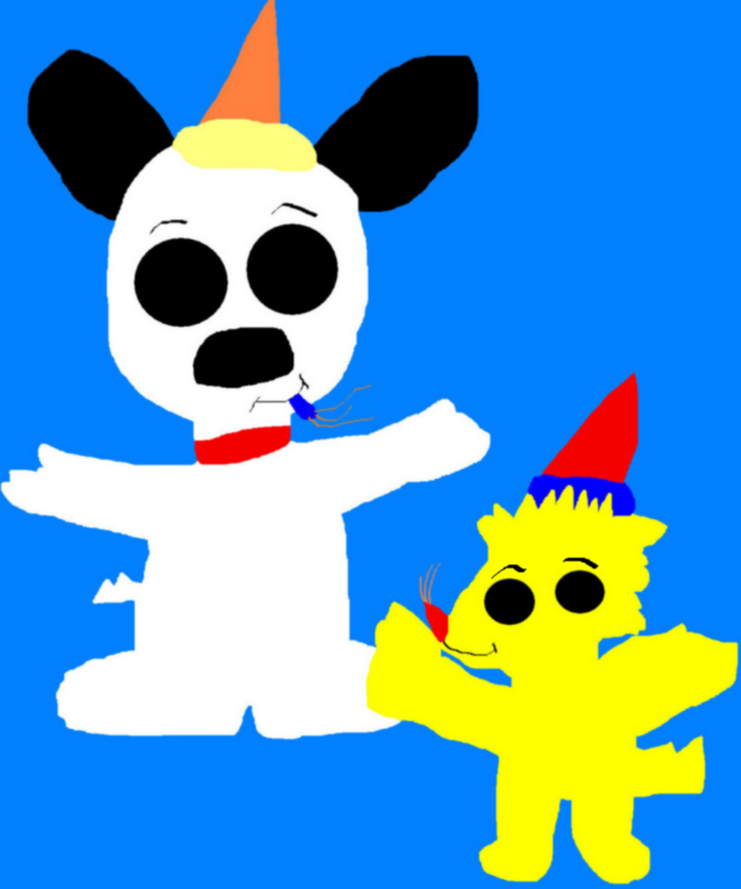 POP Woodstock Gives POP Snoopy A Birthday Lift MS Paint by Falconlobo