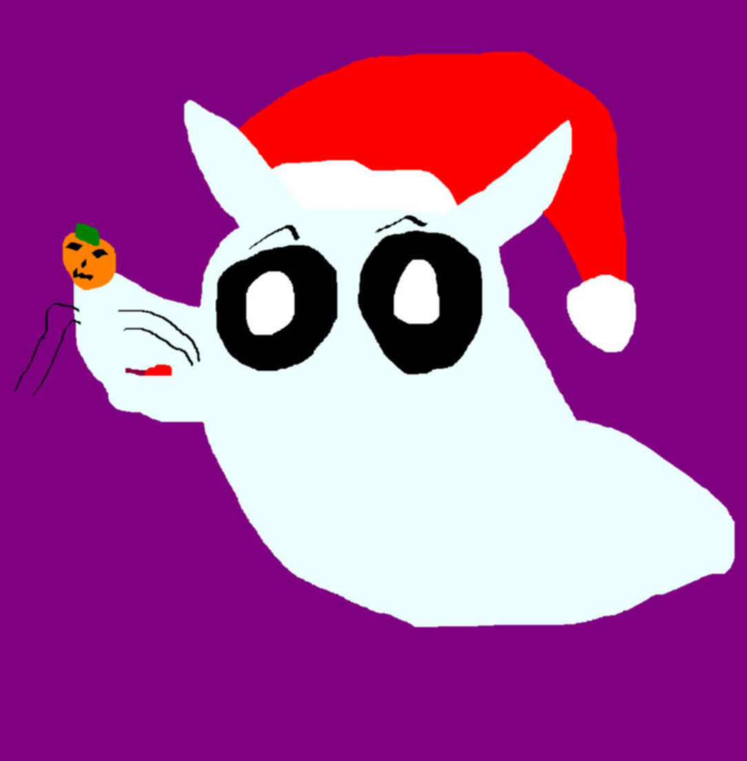 Cute Random Chibi Zero With Santa Hat MS Paint^ by Falconlobo