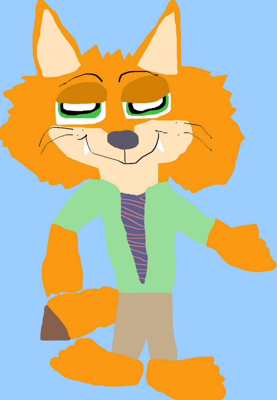 Nick Wilde The Fluffy Face Again MS Paint^^ by Falconlobo