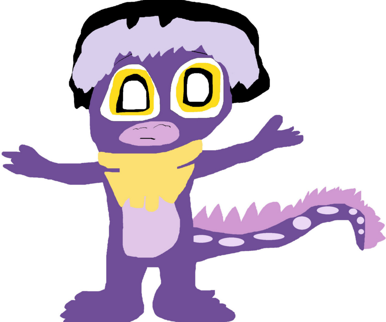I Was Bored So Have A Cute Salamander Cedric MS Paint by Falconlobo