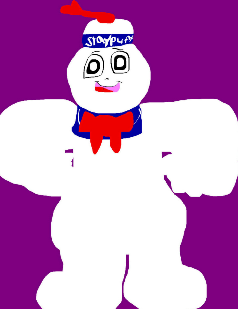 Staypuft Marshmallow Man MS Paint Again^^ by Falconlobo