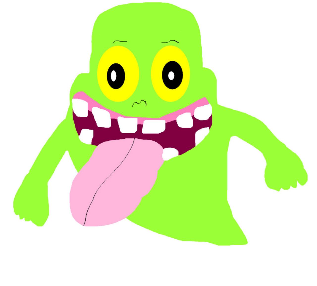 Random Slimer Creepy Face Ms Paint by Falconlobo