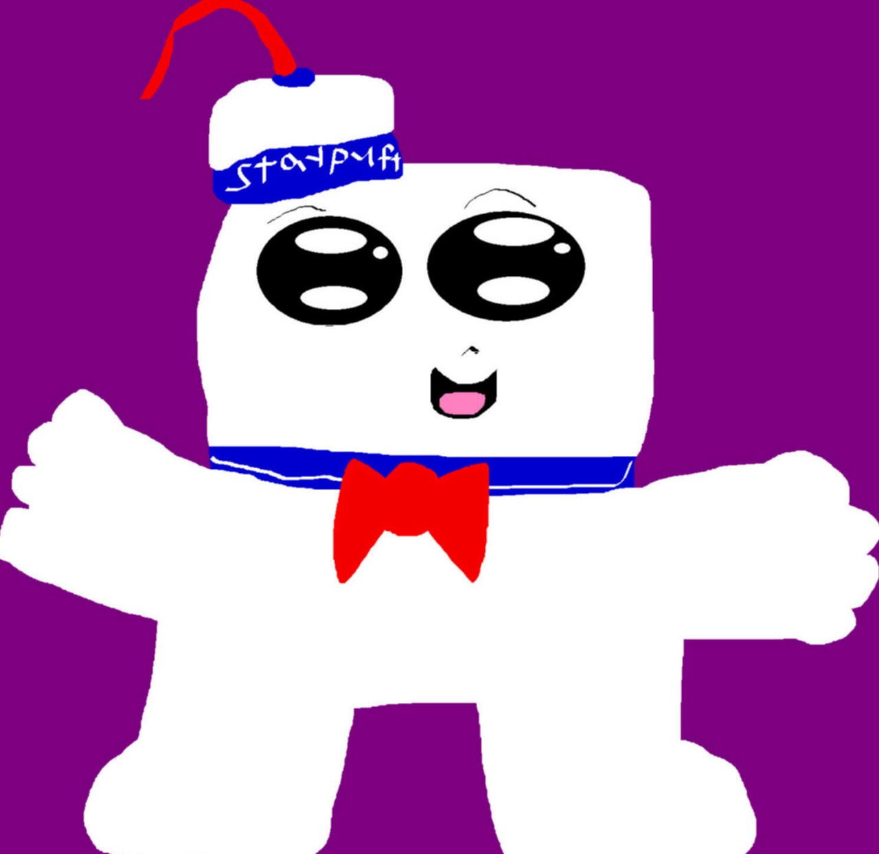 Chibi Staypuft MS Paint Plush Ref Used by Falconlobo