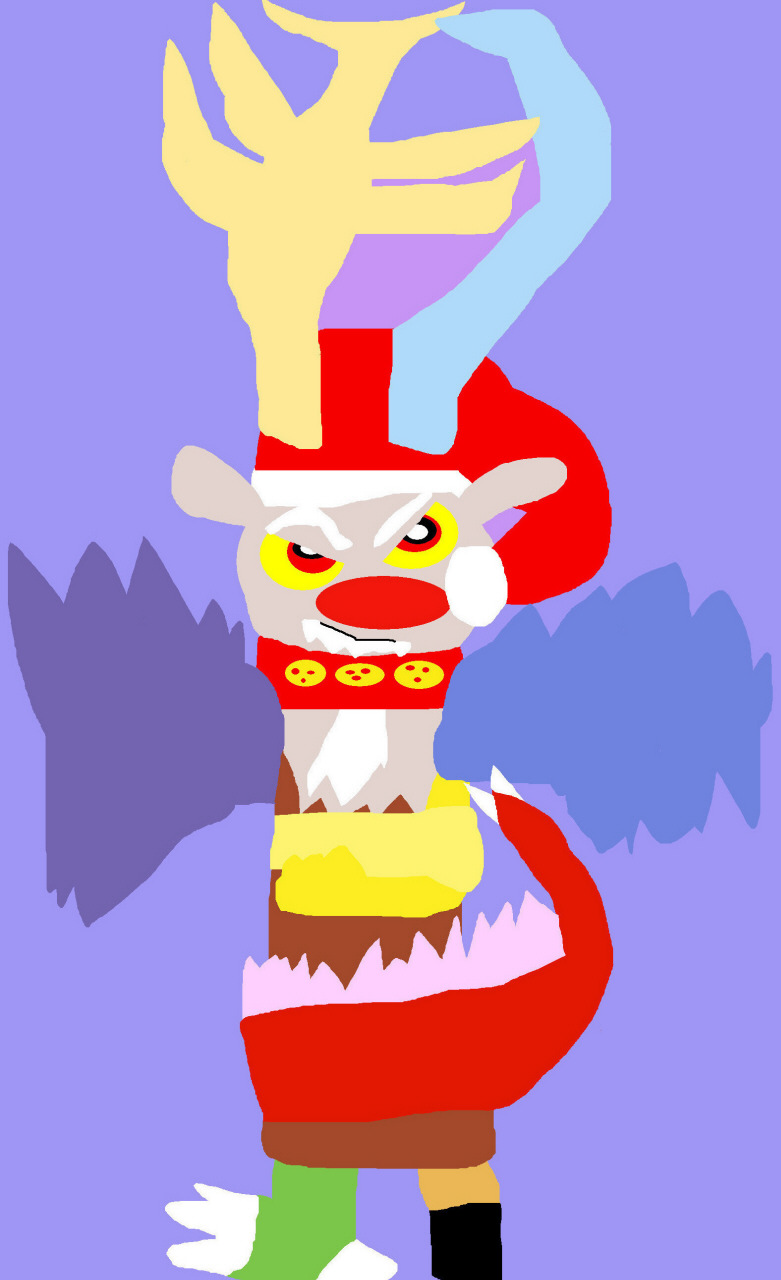 Discord The Red Nosed Draconequus Chibi Ms Paint^^ by Falconlobo
