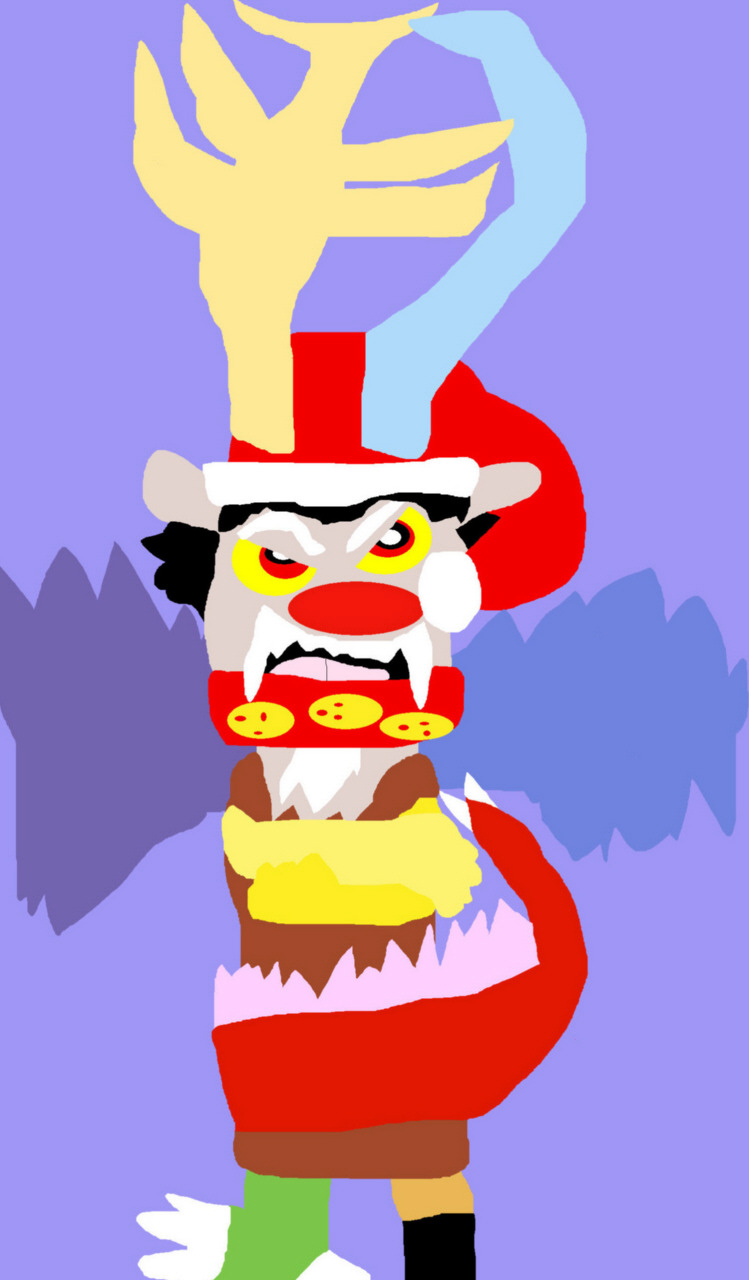Discord The Red Nosed Draconequus Chibi Alternate With Fangs MS Paint by Falconlobo