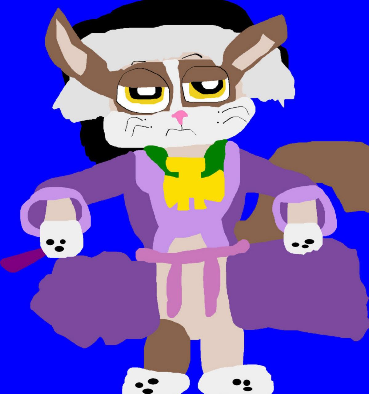 Cedric Grumpy Cat More Toony Disney Look MS Paint^^ by Falconlobo