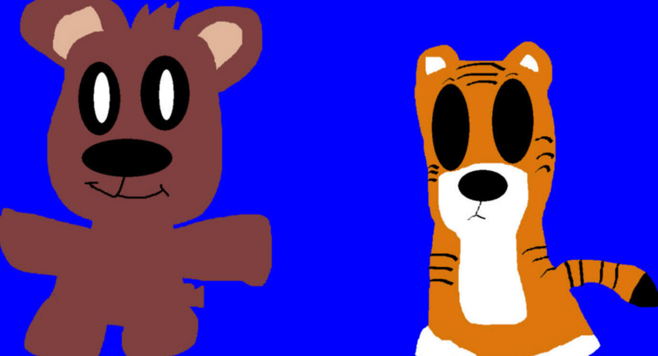 Pooky And Hobbes MS Paint Extra Early B Day Gift For alitta2 by Falconlobo
