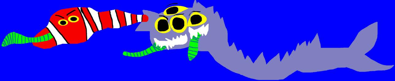 Random Sandworm SandShark Snake Mix Of Sorts MS Paint by Falconlobo