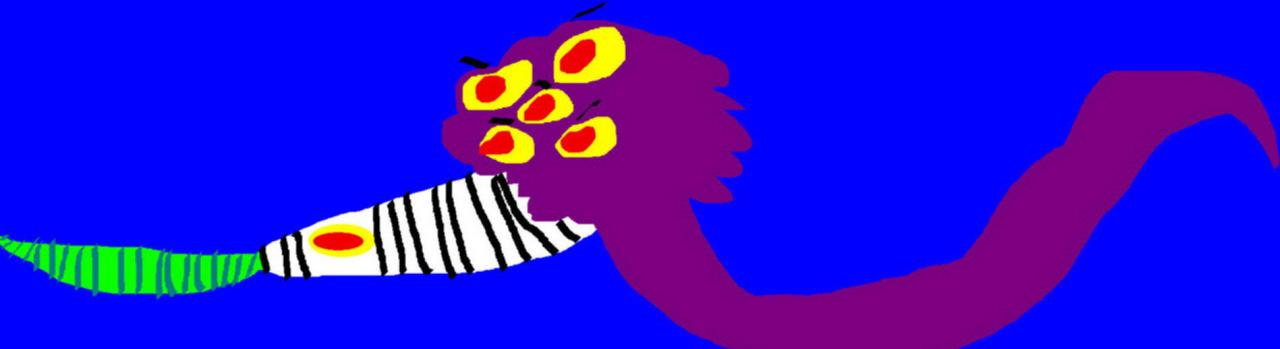 Random BeetleSnake Sandworm Mix MS Paint by Falconlobo