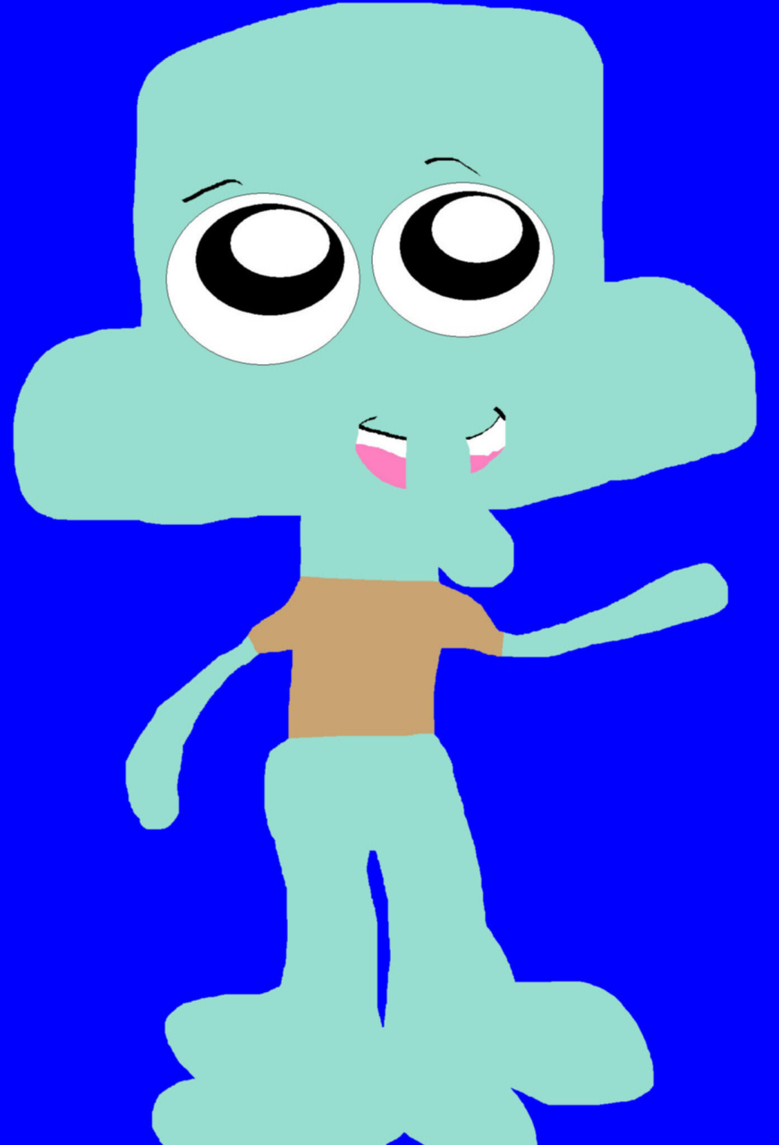 Random Chibi Squidward MS Paint Newer For 2017 MS Paint by Falconlobo
