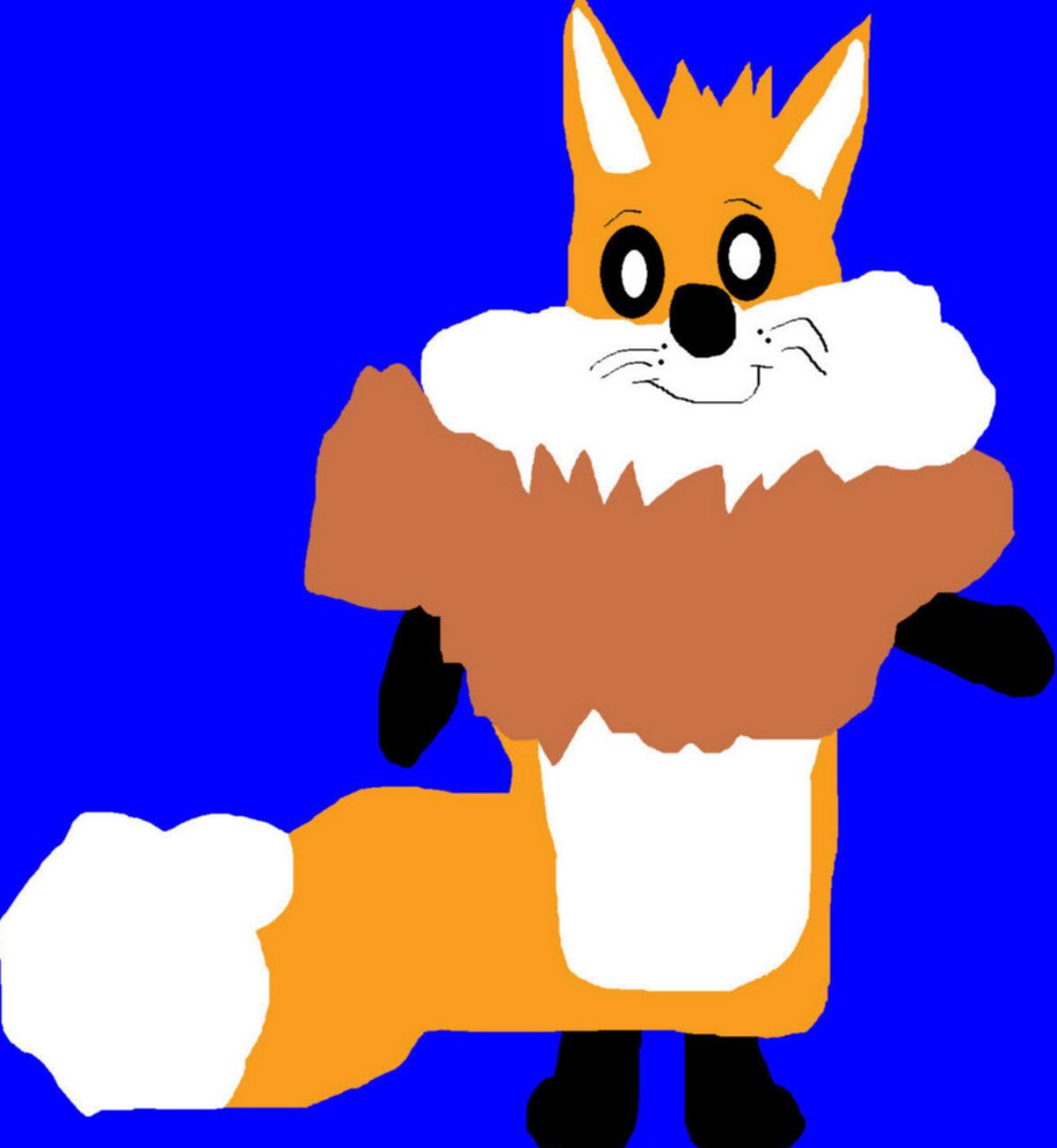 Circo Fox Plush Less Fluffier Orange Version MS Paint^^ by Falconlobo