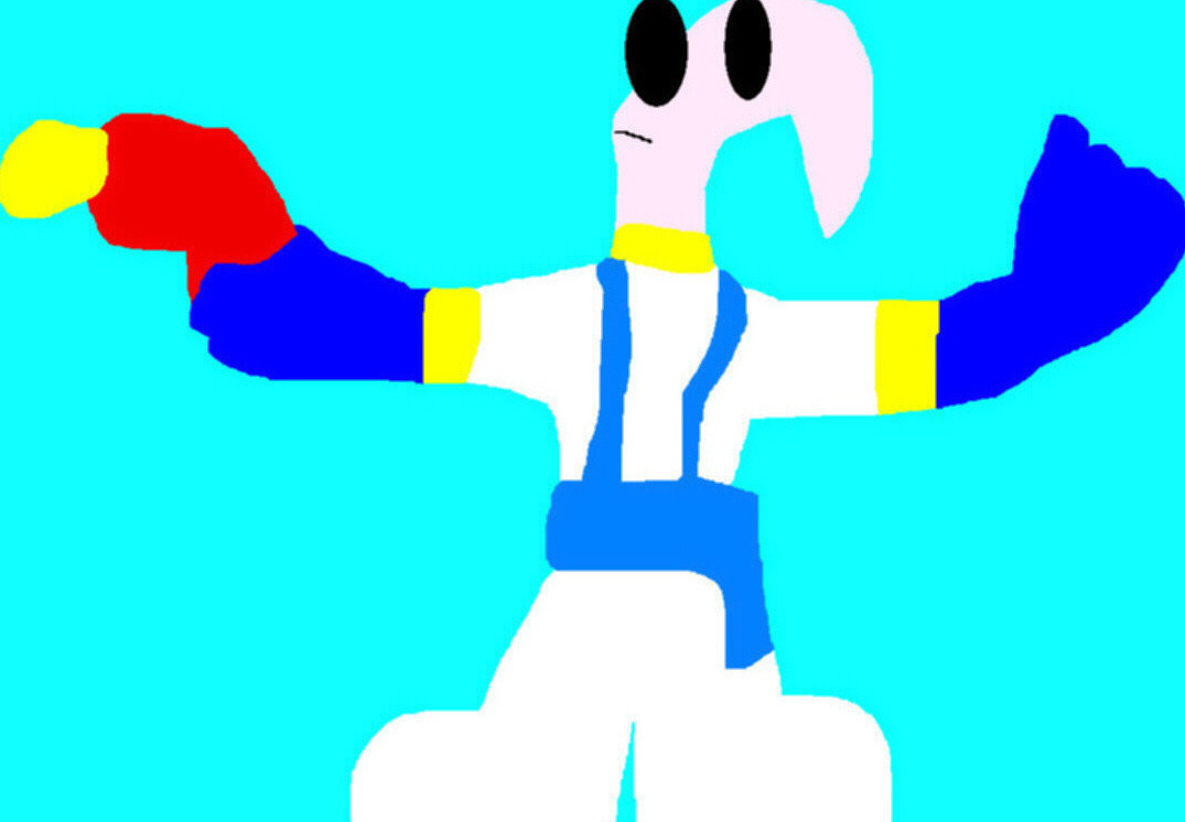Random Earthworm Jim POP MS Paint by Falconlobo