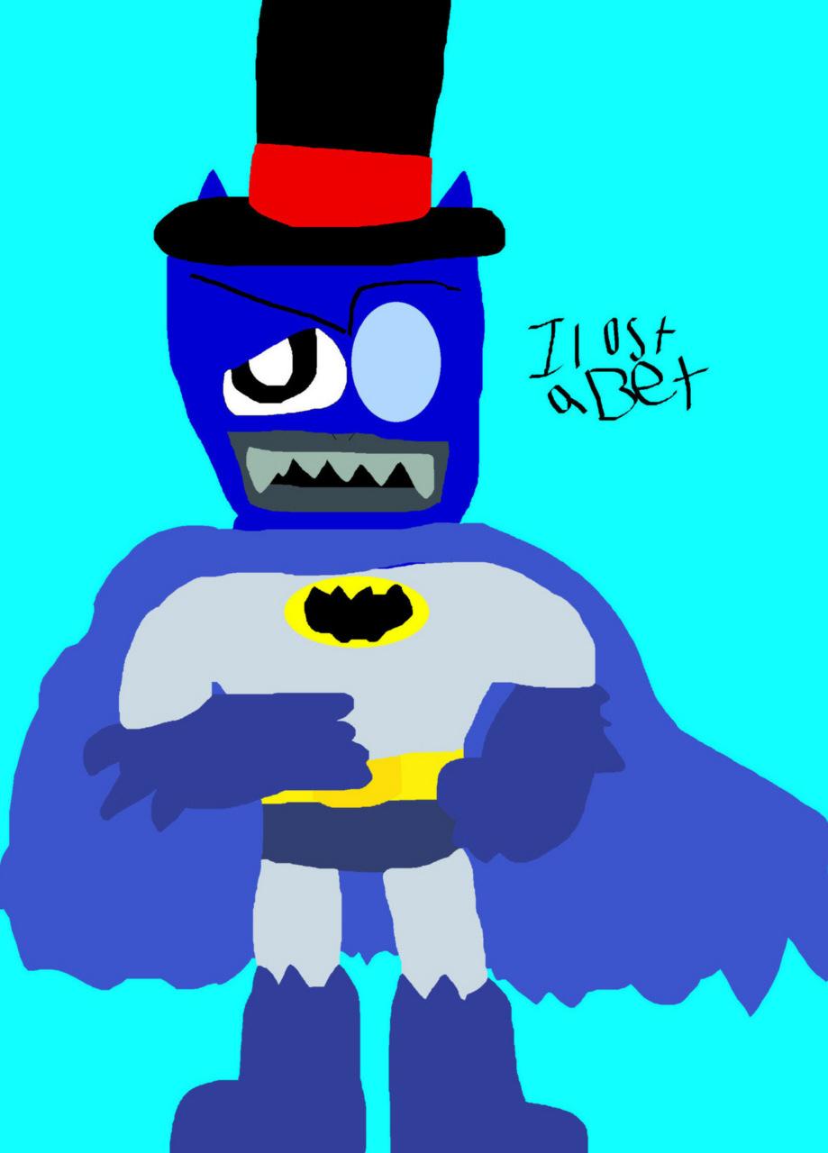 Black Hat Lost A Bet  He Is Black Bat MS Paint^^ by Falconlobo