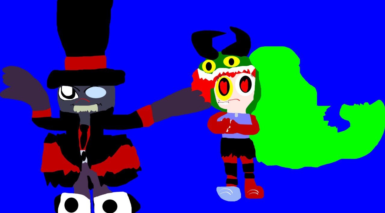 Cute But Evil Looking Black Hat Dementia Added MS Paint by Falconlobo