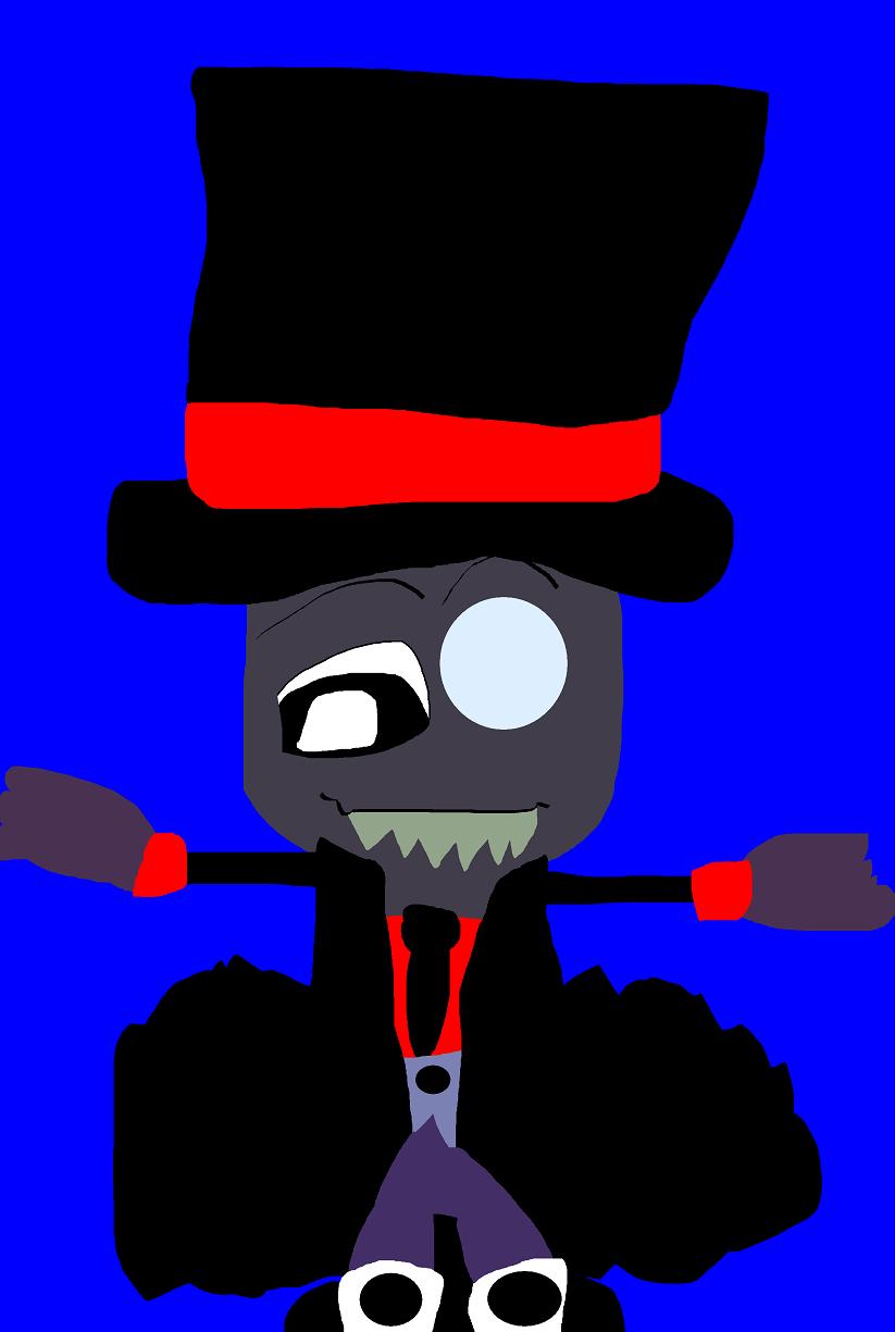 Happy Looking Black Hat Chibi MS Paint Smaller MS Paint^^ by Falconlobo