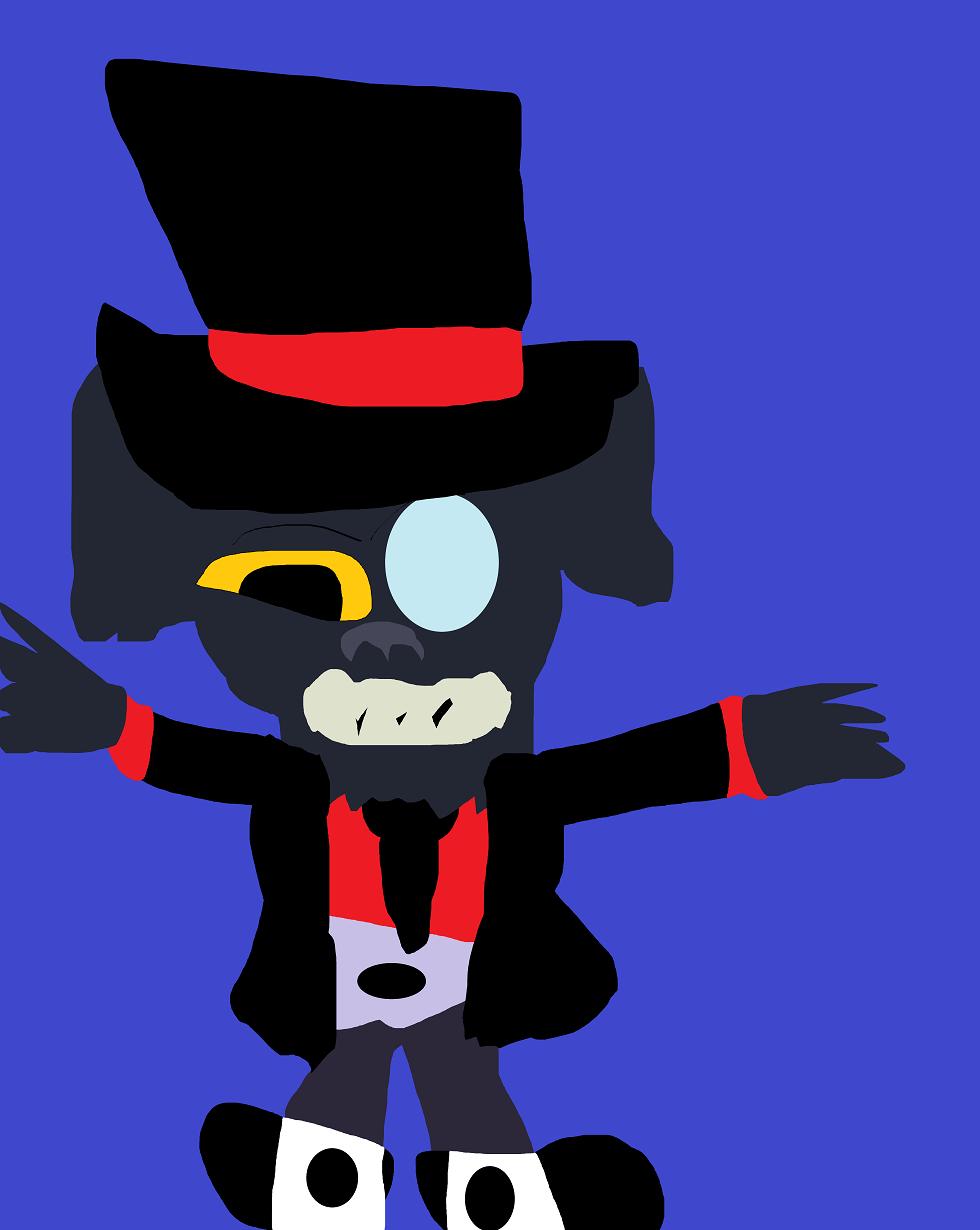 Black Hat Gremlin MS Paint^^ by Falconlobo