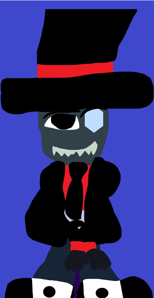 Dapper Black Hat MS Paint by Falconlobo