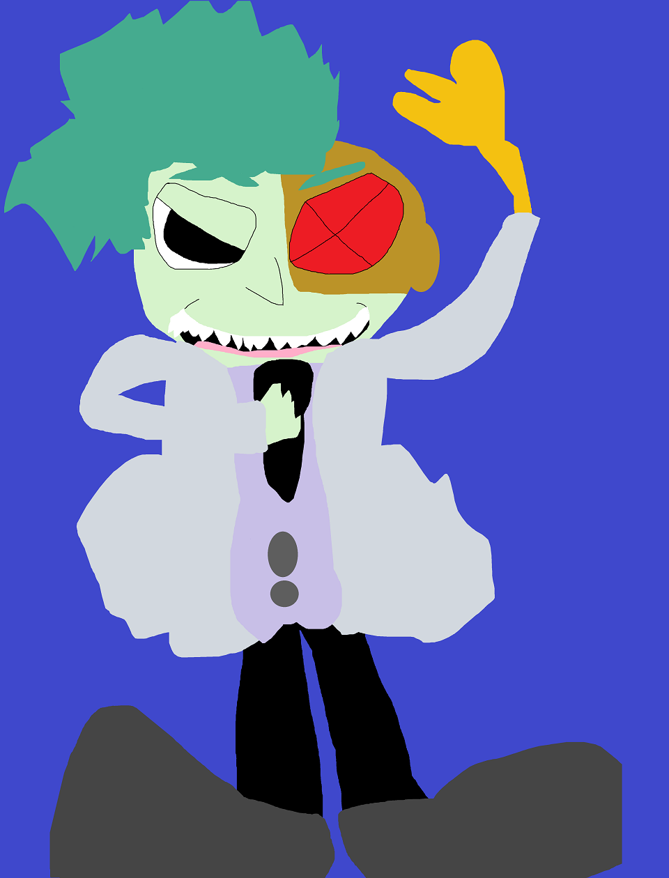 Evil Is A  Short  Cyborg With A Chicken Arm MS Paint^^ by Falconlobo