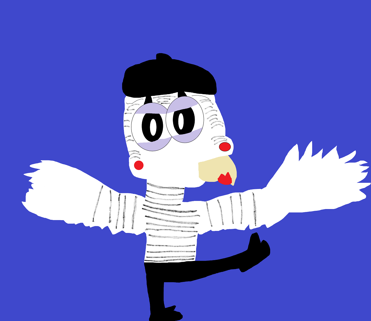 MIme Bird Karate Stance  MS Paint by Falconlobo
