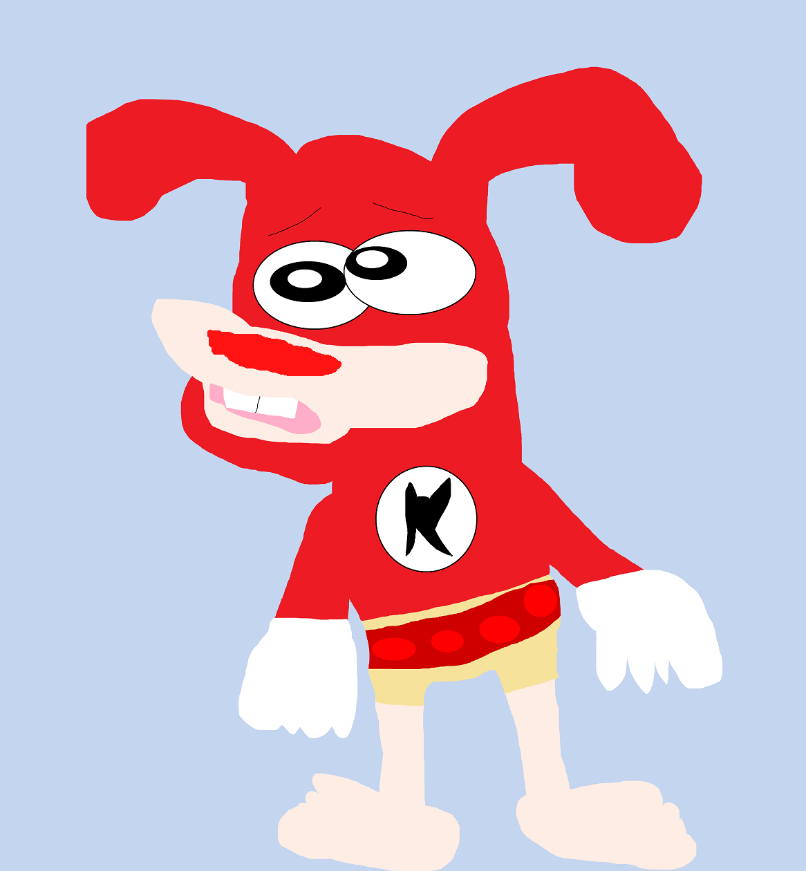 The Noid Forgot His Pants and Shoes In Pizza Boxers MS Paint^^ by Falconlobo