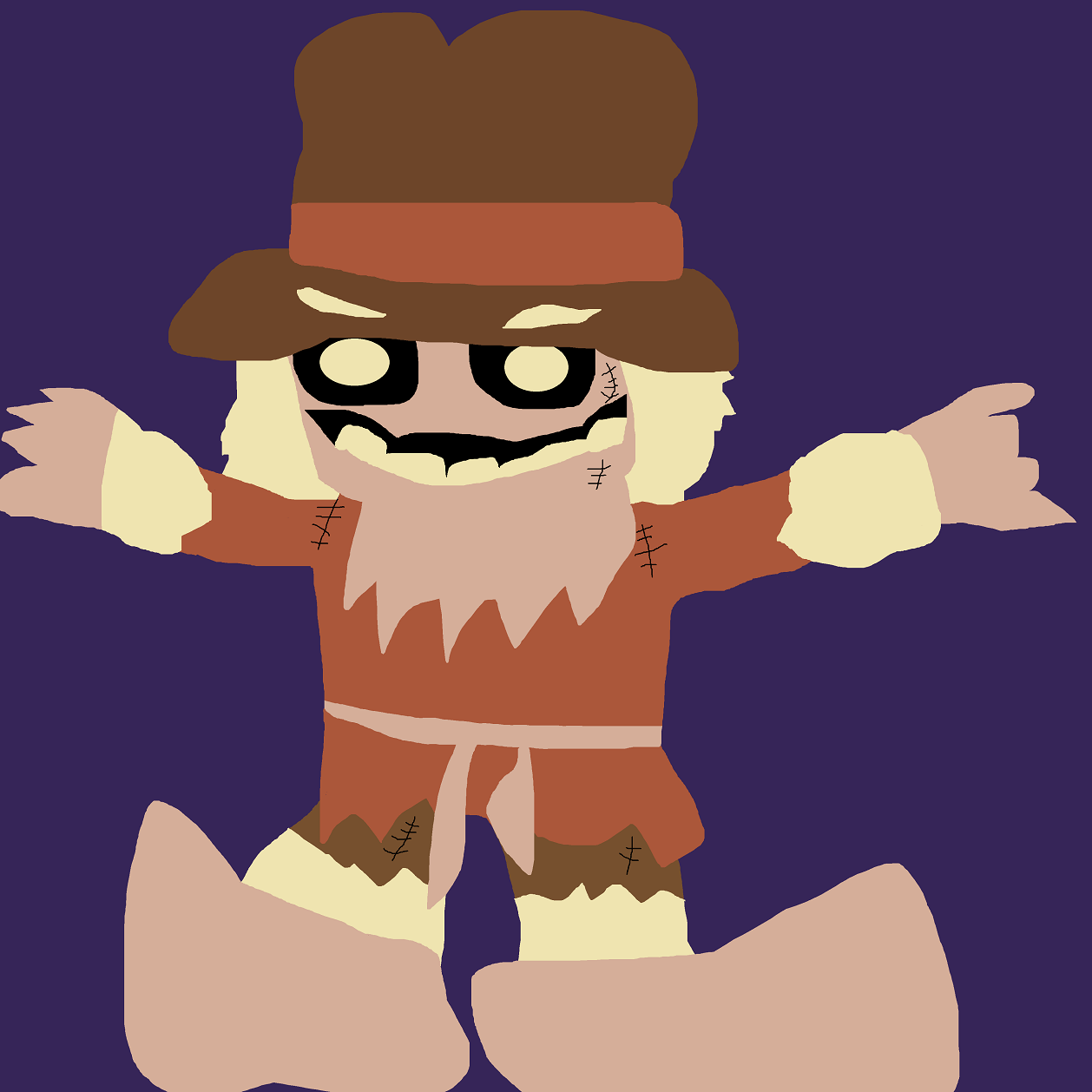 The Scarecrow Chibi Newer Ms Paint for October Of 2017 by Falconlobo