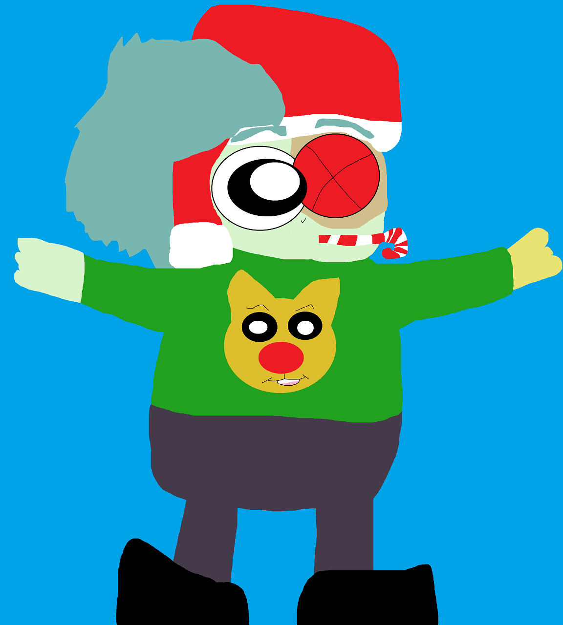 Another Boxman In His Other Christmas Sweater by Falconlobo